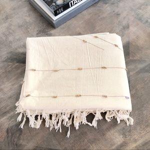 UO Home Regan Loop washed Tassel Duvet Cover
